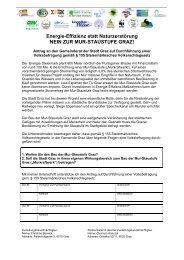Unterschriftenliste - Volksbefragung - Rettet die Mur!
