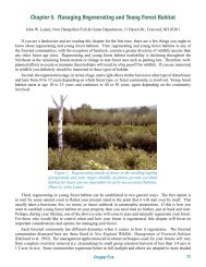 Chapter 5. Managing Regenerating and Young Forest Habitat