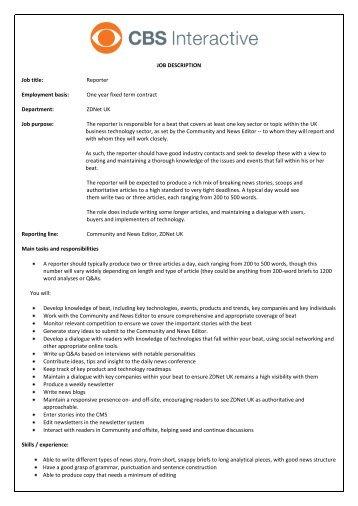 Job Title - CBS Interactive UK