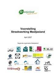 Jaarverslag streekwerking 2007 - Meetjesland.be