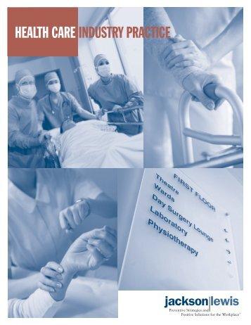 Health Care Industry Practice Brochure - Jackson Lewis