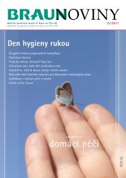 6 / 2011 (PDF, 3 MB) - Braunoviny - B. Braun Medical sro