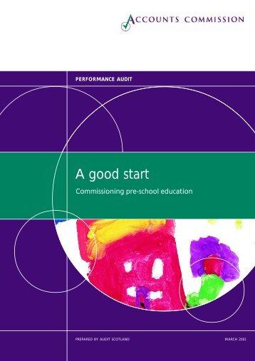 Commissioning pre-school education (PDF | 647 KB) - Audit Scotland