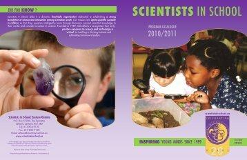 kindergarten workshops - Scientists in School