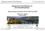 Ageing and creep behaviour of Zinc-Diecasting-Alloys - International ...