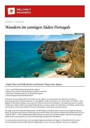 Wandern im sonnigen Süden Portugals - Weltweitwandern