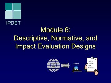 Module 6: Descriptive, Normative, and Impact Evaluation Designs