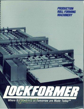 Lockformer Roll Formers Duplex Series Brochure - Sterling Machinery