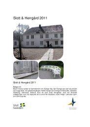 Slott & Herrgård 2011 - Dalslands Turist AB