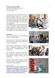 Visionsseminar 2005 - Byens Netværk