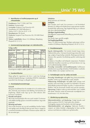 Unix® 75 WG - Middeldatabasen