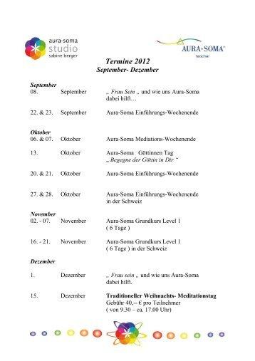 Termine 2012 September- Dezember - Aura-Soma Studio