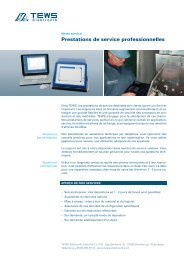 Prestations de service professionnelles - TEWS Elektronik