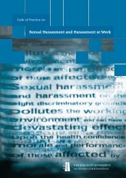Code of Practice on Sexual Harassment and ... - Equality Authority