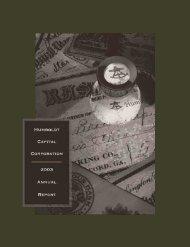 2003 Annual Report - Humboldt Capital Corporation