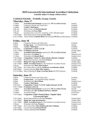 a viewable and printable copy of the Complete Schedule