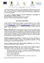 Invitatie - mobilier - Timişoara - Institutul de Management in Asigurari