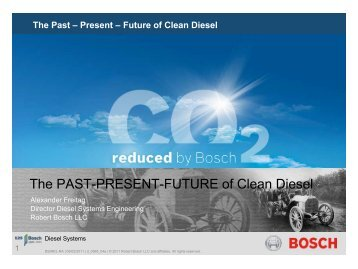 The PAST-PRESENT-FUTURE of Clean Diesel - Low Carbon Fuels ...