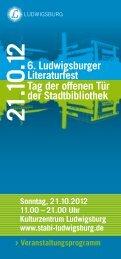 Literaturfest - Stadtbibliothek Ludwigsburg