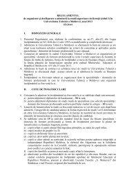 REGULAMENTUL de organizare şi desfăşurare a admiterii la studii ...