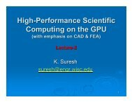 High-Performance Scientific Computing on the GPU - SERC