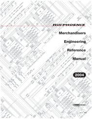 Merchandisers Engineering Reference Manual 2004 ... - Hillphoenix