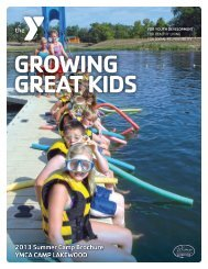 2013 Summer Camp Brochure YMCA CAMP LAKEWOOD