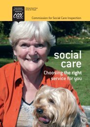 CSCI guide to choosing a care home - Action on Elder Abuse