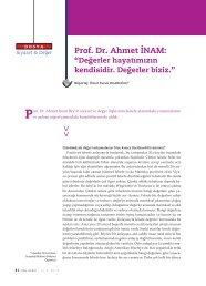 Prof. Dr. Ahmet Ä°NAM: