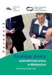Szukając pracy - Wojewódzki Urząd Pracy w Krakowie