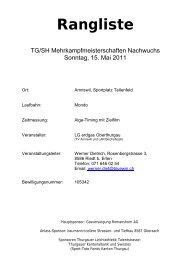 TG/SH Mehrkampfmeisterschaften in Amriswil ... - LAR Tägerwilen