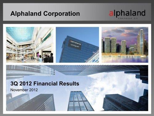 Alphaland Corporate Presentation