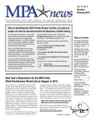 MPA News - University of Washington