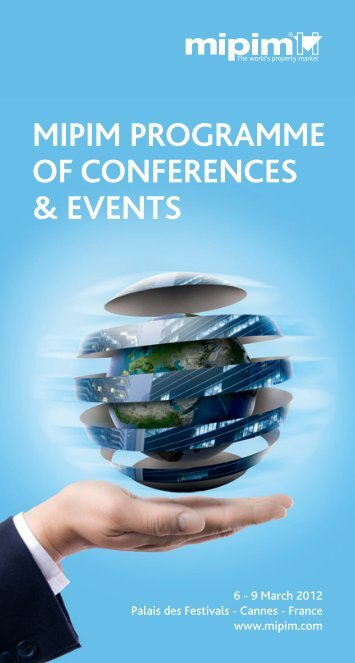MIPIM PROGRAMMe Of cOnfeRences & events