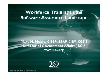 330p Mark Noble Workforce Trainingx - Build Security In
