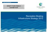 Recreation Boating Infrastructure Strategy 2012 - Great Lakes Council