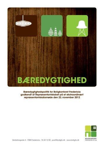 Klik her for at se vores bæredygtighedspolitik - Boligkontoret
