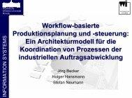 Workflow-basierte Produktionsplanung und -steuerung
