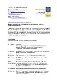 Univ.-Prof. Dr. Alexander Siedschlag WS 2006/07 / Mi, 18.30-20.00 ...