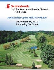 Sponsorship Opportunities Package September 20, 2012 University ...