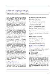 Center for Miljø og Luftveje - Sundhedsstyrelsens Rådgivende ...
