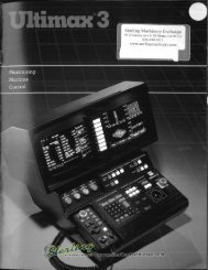 Ultimax 3 Brochure - Sterling Machinery