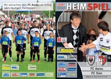 HEIMSPIEL FC Aarau FC Sion