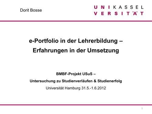 e-Portfolio in der Lehrerbildung - ZHW - Universität Hamburg