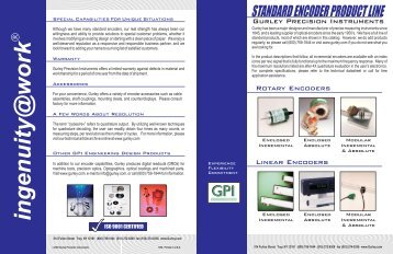 standard encoder product line - Gurley Precision Instruments