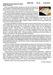ANO 108 Nº 32 15.08.2010 - Comunidade Evangélica Luterana ...