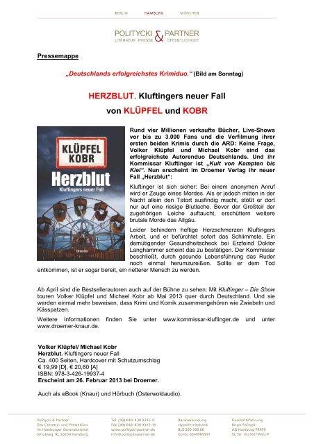 pdf, 1.03 MB, pressemappe-volker-kluepfel ... - HOANZL Agentur