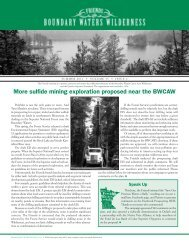 Summer 2011 - Friends of the Boundary Waters Wilderness