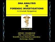 DNA analysis.pdf - Clinical Laboratory Scientists of Alaska