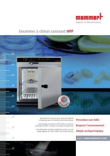 ENCEINTE CLIMATIQUE HPP - Fisher UK Extranet